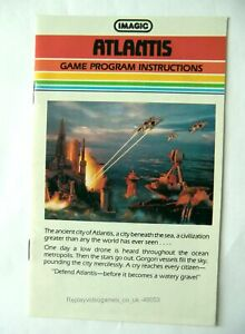 49053 Instruction Booklet - Atlantis - Atari 2600 / 7800 (1982)