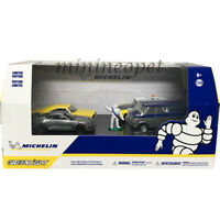 GREENLIGHT 58049 MICHELIN SERVICE CENTER DIORAMA DIECAST CAR & FIGURE 1/64 Chase
