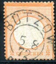 DR 1872 3 gestempelt BÜTZOW MECKLENBURG SCHWERIN STEMPEL (D4657