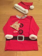 Next Baby Boy Father Christmas Outfit 3-6 Months BNWT - Next Xmas Santa Top