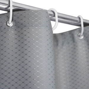 Waterproof Thicken Fabric Shower Curtain Liner Set Weighted Hem with 12 Hooks