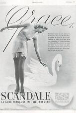 ▬► PUBLICITE ADVERTISING AD SCANDALE GAINE LINGERIE 1940