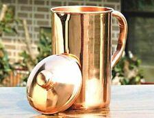 New listing Pure Copper Handmade Water Jug Pitcher Ayurveda Yoga Health Benefits 2 Litre