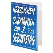 "HSV Glückwunschkarte Karte ""Anker"" Hamburger SV"