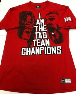 WWE I Am The Tag Team Champions Team Hell No Kane Daniel Bryan T Shirt Size L