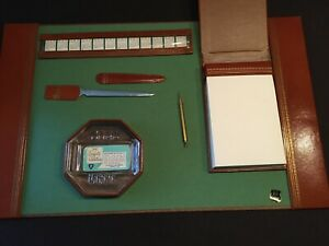 VINTAGE MID CENTURY MODERN DESK SET - NEW IN BOX - 6 PIECES - SEE DESCRIPTION !!