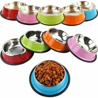 Stainless Steel Puppy Dog Feeder Feeding Foods Water Dish Bowl For Pet Dog Cat