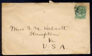 INDIA #48 USED IN ADEN 1902 TO USA