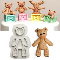 1Pcs Cute Bear Silicone Fondant Mold Cake Decor Sugarcraft Kitchen Baking Mould