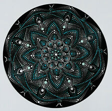 disc-mandala 4 / vinyl record mandala art handmade painting