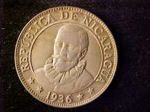 NICARAGUA 25 CENTAVOS 1936