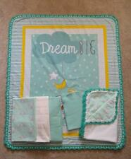 NURSERY CRIB QUILT/SHEET SET-DISNEY'S DUMBO-THE FLYING ELEPHANT-DREAM BIG-5pc