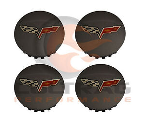 2008-2013 Chevrolet C6 Corvette Genuine GM Comp Gray Center Caps Set Of 4