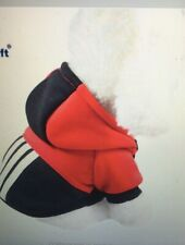 RED / BLACK HOODIE DOG SWEATER - DOG / PUPPY  PET T-SHIRT -LARGE- BRAND NEW !!