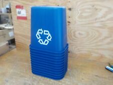 Rubbermaid Commercial Products FG295673BLUE Plastic Resin Deskside Recycling Can