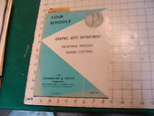 the CHANDLER & PRICE CO. Catalog--1959 PRINTING PRESSES, PAPER CUTTERS, 36PGS