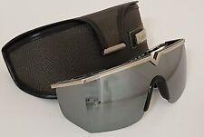 GIANNI VERSACE rare VINTAGE Shield SUNGLASSES Mod S90 Col 01M eyewear w/Case MY