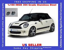 MINI COOPER R55 R56 R57 R60 R61 CHROME MIRROR COVER STAINLESS STEEL 2007 TO 2016