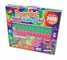 3000 Loom Bands Bracelet Making Kit Clips Charms Beads Hook Super Looms Fun Gift
