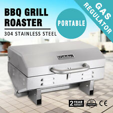Portable BBQ Gas Barbecue Outdoor Camping Grill LPG Caravan Cooker Burner W/Hose