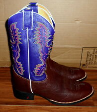 MENS JUSTIN 2274 GEORGE STRAIT ROPER LEATHER COWBOY WESTERN BOOTS SIZE 9D