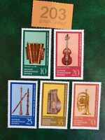 Germany DDR - 1977  - Old Musical Instruments from Vogtland MNH !