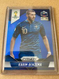 Panini Prizm 2014 World Cup No.82 Karim Benzema blue 137/199