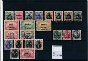 D193902(1) Allenstein Deutsches Reich Nice selection of MH stamps