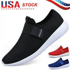 Men's Slip On Sports Running Shoes Outdoor Athletic Jogging Tennis Sneakers Gym