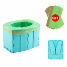 Hard Plastic Child Travel Toilet Portable Potty Seat Toilet Training with Bags