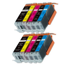 10P New XL Ink Cartridges (BK PBK C M Y) for PGI-250 CLI-251 MG6620 MG5620 MX922