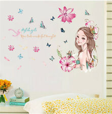 Cartoon Butterfly Girl Room Home Decor Removable Wall Stickers Decals Decoration