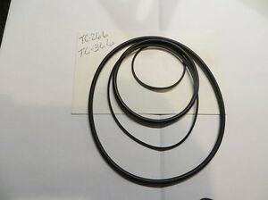 Reel to Reel player Recorder 4 Belt kit  TC-266  TC-366  NEW STOCK Free Shipping