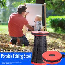 Portable Folding Plastic Camping Fishing Chair Stool Travel Seat Retractable AU
