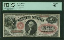 "U.S.  1875  $1  ""LEGAL TENDER/U.S.NOTE""  BANKNOTE  FR-20, CERTIFIED PCGS CU-63"