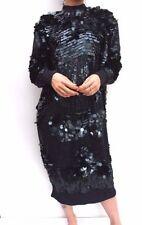 Vestiti da donna a manica lunga con girocollo blu