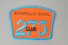 Vintage Bowling Patch Amarillo Bowl 275 Club -  Unmounted