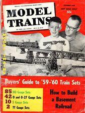 Vintage December 1959 MODEL TRAINS Magazine Buyers Guide All Gauges 82 Pages