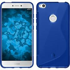Coque en Silicone Huawei P8 Lite 2017 - S-Style bleu + films de protection