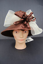 BMJ Studio Ladies Hat With Bow Church Wedding - New