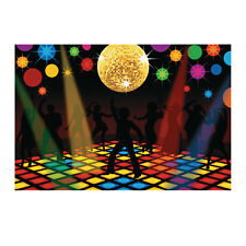 Disco Ball Dance Floor 70's Groovy Party Decoration Backdrop Photo Prop Mural
