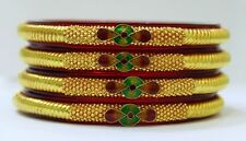Set Of 4 Peaces Traditional Jewelry Authentic 22 K Solid Gold Bangles Bracelet