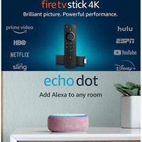 Fire TV Stick 4K bundle with Echo Dot (3rd Gen - Plum)