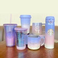 Starbucks Aurora Colorful Dazzle Purple Travel Cup Mug Tumbler Thermos Flask