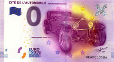68 MULHOUSE Cité de l'Automobile, N° de la 6è liasse, 2016, Billet 0 € Souvenir