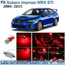 For 2004-2015 Subaru Impreza WRX STI Brilliant Red Interior LED Lights Kit 8PCS