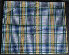 Waverly Valley Plaid Lake Blue Green Yellow White Balloon Valance