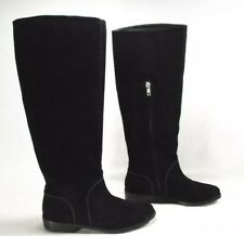 Womens Ugg Gracen Black Suede Riding Boots Size 6.5 Style 1017344 $250