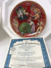 """April"" Coca Cola Days Calendar Collectors Plate By The Bradford Exchange"
