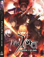 DVD ~ FATE ZERO Season 1 + 2 ( Episode 1 - 25 End ) ~ English Dub + Sub